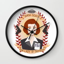 Dana Scully Wall Clock