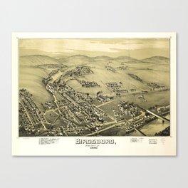 Aerial View of Birdsboro, Pennsylvania (1890) Canvas Print