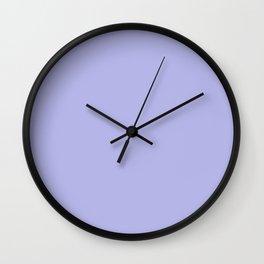 blue ultra soft lavender Wall Clock