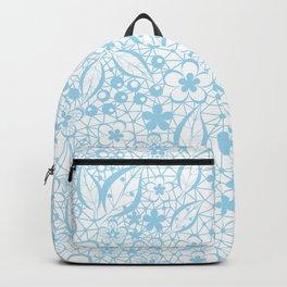 Blue , fishnet , lace Backpack