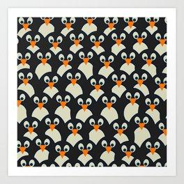 Penguin Pile-Up Art Print