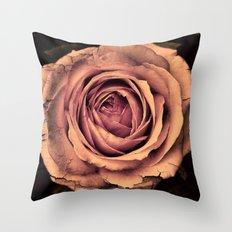 Vintage Rose,peach Throw Pillow