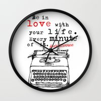 kerouac Wall Clocks featuring Jack Kerouac by MuDesignbyMugeBaris