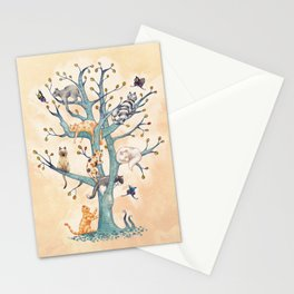 The tree of cat life Stationery Cards