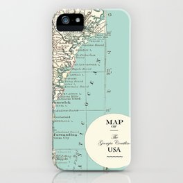 Th Georgia Coastline iPhone Case