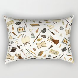 Creative Artist Tools - Watercolor Rectangular Pillow