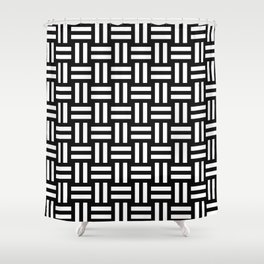 Equal White Shower Curtain
