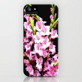Pink Gladiolas Full Bouquet iPhone Case
