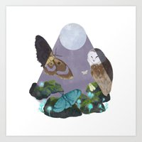 MNO in the Forest Art Print