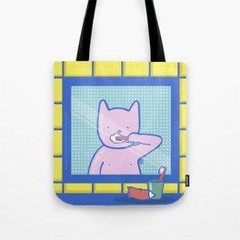 Fox Brushes His Teeth Tote Bag