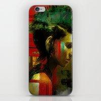 british iPhone & iPod Skins featuring Under a British rain by Ganech joe