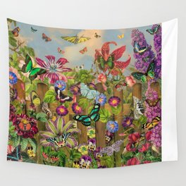 Butterfly Garden Wall Tapestry