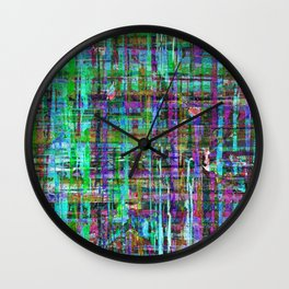 Abstract Distressed Stripes Multi-coloured 1211 Wall Clock