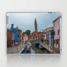 Burano Island Italy Canal Boats Laptop & iPad Skin