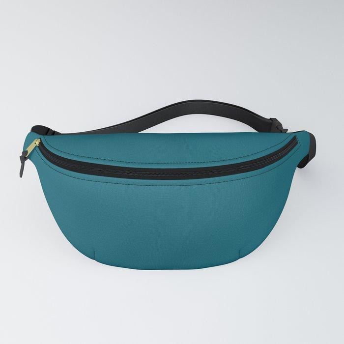 Sherwin Williams Trending Colors of 2019 Oceanside (Dark Aqua Blue) SW 6496 Solid Color Fanny Pack