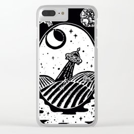 UFO Farm Sighting Invert Clear iPhone Case
