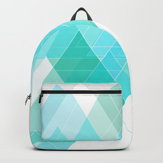 Icy Grey Mountains Backpack