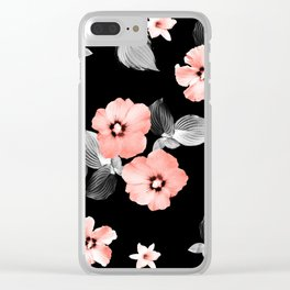Living Coral Floral Dream #1 #flower #pattern #decor #art #society6 Clear iPhone Case