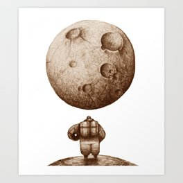 Astronaut's Dream Sketch Art Print