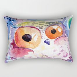 Bubble owl Rectangular Pillow
