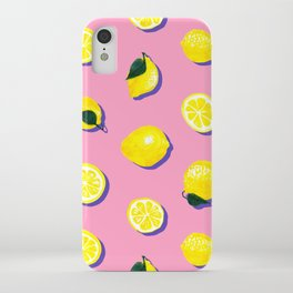 Pink Lemon ~ 80's Pattern iPhone Case