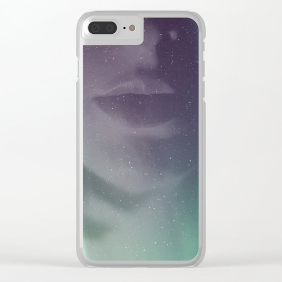 Aurora borealis Clear iPhone Case