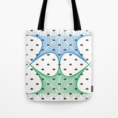 Earthly Tone Mesh Line Art Tote Bag