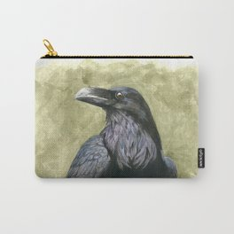 Proud Raven - Watercolor Carry-All Pouch