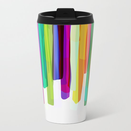 Colorful Stripes 2 Metal Travel Mug
