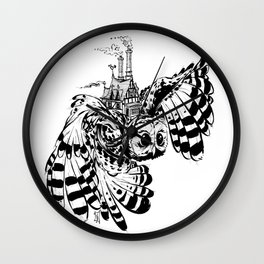 Travel By Owl Wall Clock