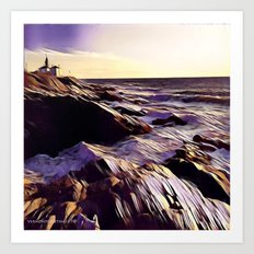 Beavetail Lighthouse, Jamestown RI Art Print
