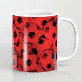 Red Soccer Balls Everywhere Coffee Mug