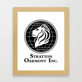 Stratton Oakmont Inc Logo From The Wolf Artwork Of Symbol For Tshirts Prints Posters Bags Men Women Framed Art Print