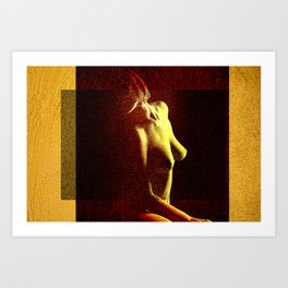 AUSENCIA DE TI Art Print