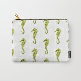 Watercolor Seahorses Pattern Carry-All Pouch