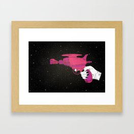Particle-beam weapon Framed Art Print