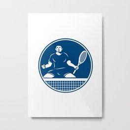 Tennis Player Racquet Fist Pump Icon Metal Print