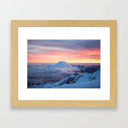 Sunrise on Mt Ngauruhoe  Framed Art Print
