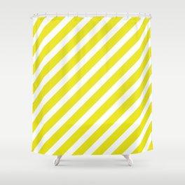 Basic Stripes Yellow Shower Curtain