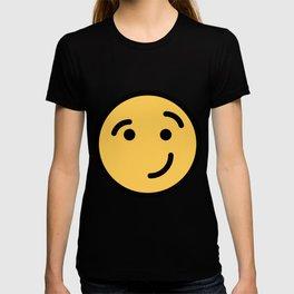 Smiley Face   Cheeky Eyebrow Raised Smile T-shirt