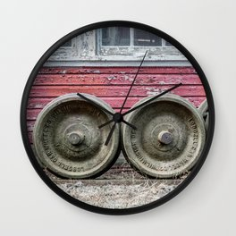 Train Wheelsets in East Broad Top Service Yard Railroad Boxcar Wheels Color Version Wall Clock