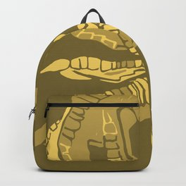 Two Untitled Chicken Feet in Yellow Backpack