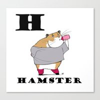 hamster Canvas Prints featuring Hamster by Dangerous Onion