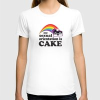 asexual T-shirts featuring My Sexual Orientation Is Cake Asexual Pride by TheRandom