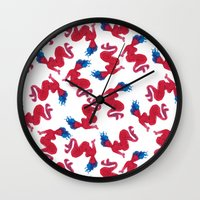 mermaids Wall Clocks featuring Mermaids by Koni