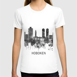 Hoboken New Jersey Skyline BW T-shirt