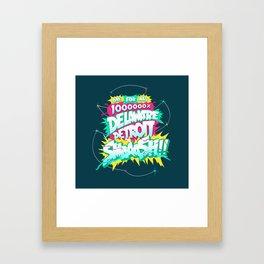 My Hero 1M% Framed Art Print