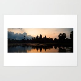 Angkor Wat sunrise - panorama Art Print