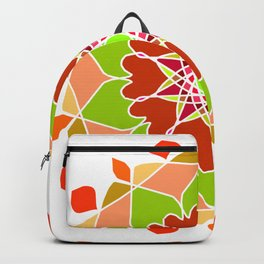 Colorful Tribal Ethnic Festive Abstract Floral Pattern Backpack
