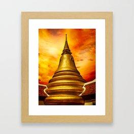 Thai Temple Sunset Framed Art Print